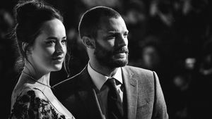 Dakota Johnson und Jamie Dornan 2017 in London
