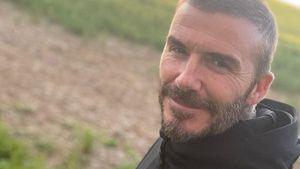 Von wegen Glatze: David Beckham zeigt sich mit vollem Haar