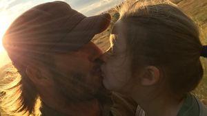 Wegen Kuss mit Tochter (5): Shitstorm für David Beckham!