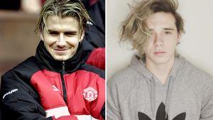 David und Brooklyn Beckham