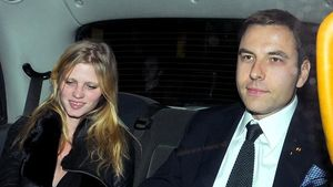 David Walliams und Lara Stone