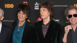 Ronnie Wood, Mick Jagger und Keith Richards