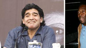 Pelé und Diego Maradona