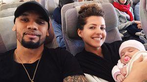 Easy? Harrisons meistern ersten Dubai-Flug mit Mia Rose