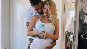 Sarah und Domi Harrison bezaubern mit Schwangerschaftsfotos