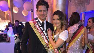 Dominik Bruntner und Viola Kraus bei der Miss-Germany-Wahl 2017