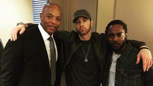 Dr. Dre, Eminem und Kendrick Lamar
