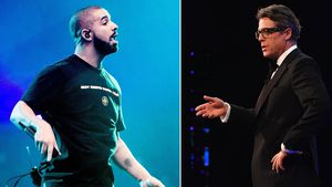 Drake und Hugh Grant