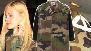 Gut getarnt! Elle Fanning im Camouflage-Jäckchen