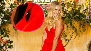 Ups! Model hat bei Red Carpet noch Diebstahlschutz am Kleid