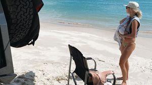 Erstes Camping: Elyse Knowles genießt Urlaub mit Baby!