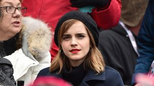 "Emma Watson auf der ""Women's March"" in Washington"