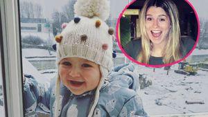 Süßer Schnee-Engel: So groß ist Estavana & Rafaels Baby-Girl