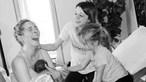 Total intim: Eva Amurri teilt Aufnahmen von ihrer Hausgeburt