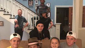 """Neue """"Modern Family""""? Ganze Familie Beckham am Serien-Set"""