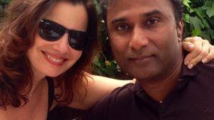 Fran Drescher und Shiva Ayyadurai