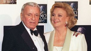 Frank und Barbara Sinatra 1995 in Los Angeles