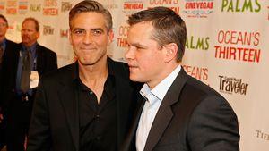 George Clooney und Matt Damon bei einem Filmfestival 2007 in Las Vegas