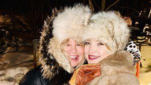 Cool! Goldie Hawn und Tochter Kate Hudson kuscheln im Schnee