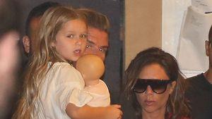 Harper Seven Beckham mit ihren Eltern David und Victoria Beckham nach einem Family-Dinner in Malibu