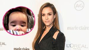 Mähnen-Alarm: Jessicas Babyboy hat schon 'ne richtige Frisur