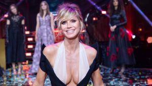 In diesem heißen Couture-Kleid dreht Heidi Klum für GNTM