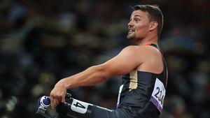 Heinrich Popow beim Finale der Herren bei den Paralympics 2012