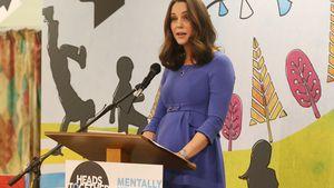 Endlich sieht man Herzogin Kates Baby-Bäuchlein!