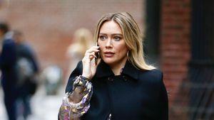 Bei TV-Dreh: Hilary Duff kann Babybauch kaum noch verstecken