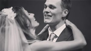 Gisele Bündchen und Tom Brady am Tag ihrer Hochzeit