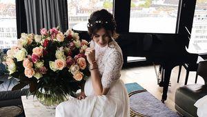 Ira Meindl am Tag ihrer Hochzeit