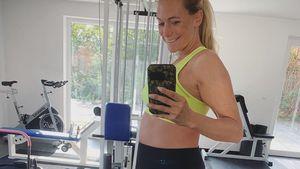 Acht Wochen bis Geburt: Iris Aschenbrenner noch total fit!