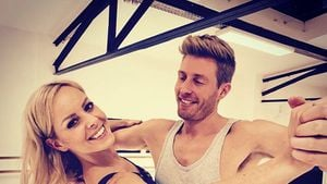 "Isabel Edvardsson und Maximilian Arland beim ""Let's Dance""-Training"