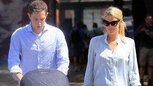 James Rothschild und Nicky Hilton in New York kurz nach der Geburt ihres ersten Kindes