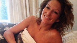 Janni Höhnscheid mit ihrem Valentins-Schokokuchen