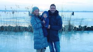 Zu gefährlich? Janni & Peer mit Baby Emil auf gefrorenem See