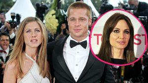 Jennifer Aniston, Brad Pitt und Angelina Jolie