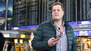 Jens Büchner am Frankfurter Flughafen