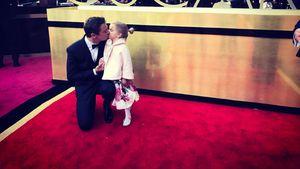 Jeremy Renner und seine Tochter Ava bei den Oscars 2017