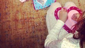 Von Herzen: Jessica Albas Tochter bastelt Präsente