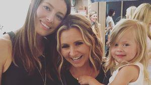 Jessica Biel und Beverley Mitchell mit Tochter Kenzie