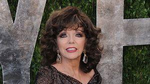 Joan Collins' Kleid entblößt Schrumpel-Haut
