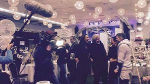 Joey Heindle und Justine Dippl bei den Dreharbeiten zur Hochzeits-Show