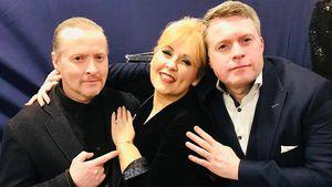 Seltenes Foto: Hier posiert Maite Kelly mit Joey & Jimmy