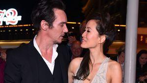 Jonathan Rhys-Meyers und Mara Lane bei der MIP TV Gala in Cannes