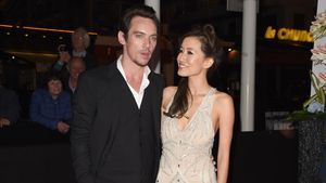 Jonathan Rhys Meyers und Mara Lane in Cannes