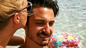 Juliette Greco, Ehemann Salvatore und die gemeinsame Tochter Luana auf einem Urlaubsfoto von 2016