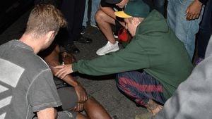 Justin Bieber bei dem Paparazzo-Unfall Ende Juli 2017