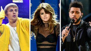 Justin Bieber, Selena Gomez und The Weeknd