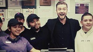 Sieges-Feier! Justin Timberlake im Fast-Food-Wahn